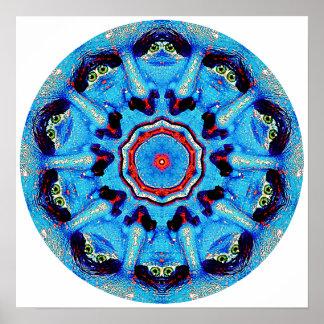 Blue Man Mandala Poster