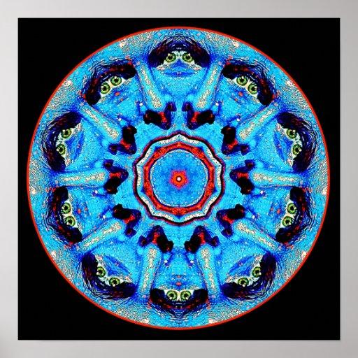 Blue Man Mandala Poster/ Print
