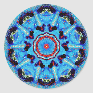 Blue Man Mandala Stickers