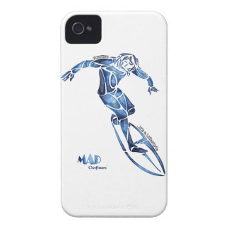 Blue Man Surfer Phonecase iPhone 4 Covers