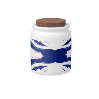 Blue mandala Art Candy Jars