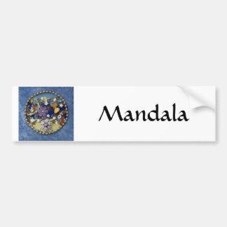 Blue Mandala - collage Car Bumper Sticker