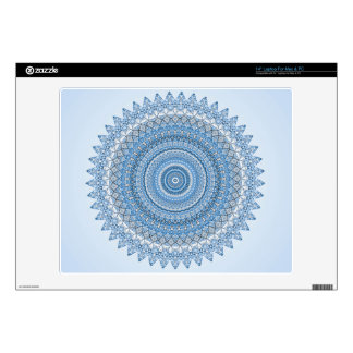 "Blue Mandala Decal For 14"" Laptop"