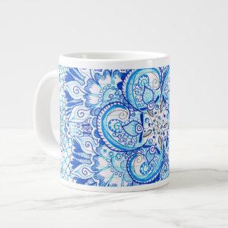 blue mandala design mug