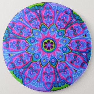 Blue Mandala Fashion Button Jewelry Broach Pin