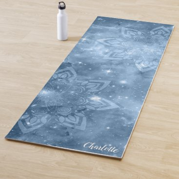 Blue Mandala Galaxy Zen Yoga Mat
