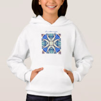 Blue mandala hearts pattern Thunder_Cove Hoodie