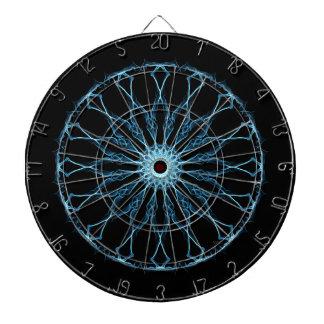 Blue Mandala Illumination Dartboard With Darts