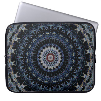 Blue Mandala Laptop Sleeve 15 inch