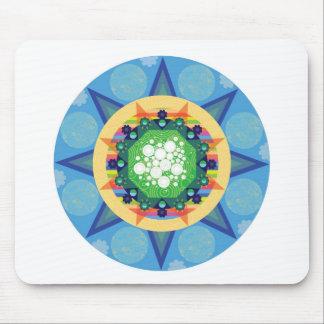 Blue mandala mouse pad