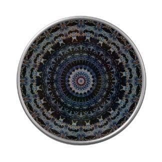 Blue Mandala see-thru round candy tin