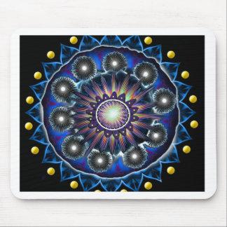 Blue Mandala Style Mouse Pad