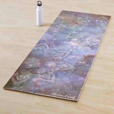 Blue Mandala Universe Zen Yoga Mat