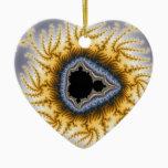 Blue Mandel Christmas Ornament