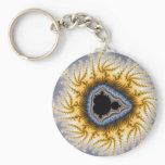 Blue Mandel - Fractal Keychain