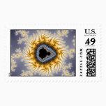 blue mandel postage