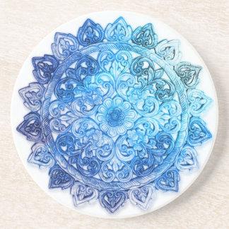 Blue Mandela Coaster
