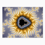 Blue Mandelbrot - Fractal Postcard