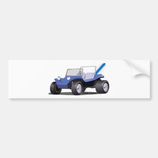 Blue Manx Side Bumper Sticker
