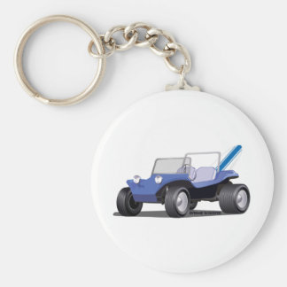 Blue Manx Side Keychain