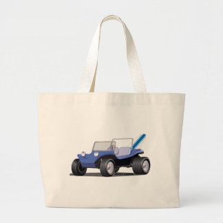 Blue Manx Side Large Tote Bag