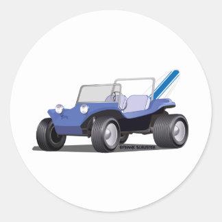 Blue Manx Side Classic Round Sticker
