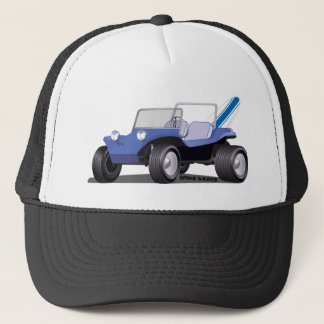 Blue Manx Side Trucker Hat
