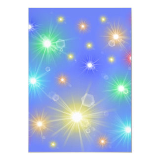 blue,many colorful little sun, lights magnetic card