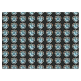 "Blue Many Hearts Fractal 17"" X 23"" Tissue Paper"