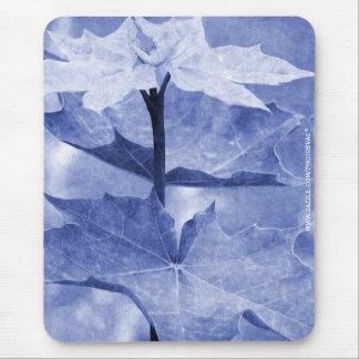Blue Maple Leaf Mouse Pad