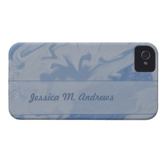 blue marbel background iPhone 4 cover