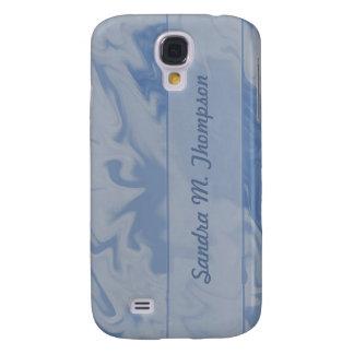 blue marbel background samsung s4 case