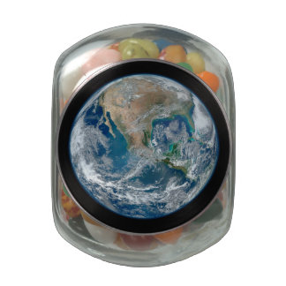 Blue Marble 2015 - Earth, Space, Planets Glass Candy Jars