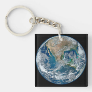 Blue Marble 2015 - Earth, Space, Planets Keychain