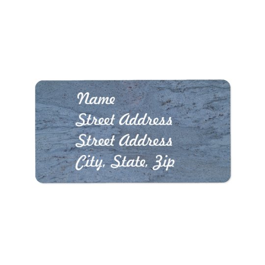 Blue Marble Address Sticker Label