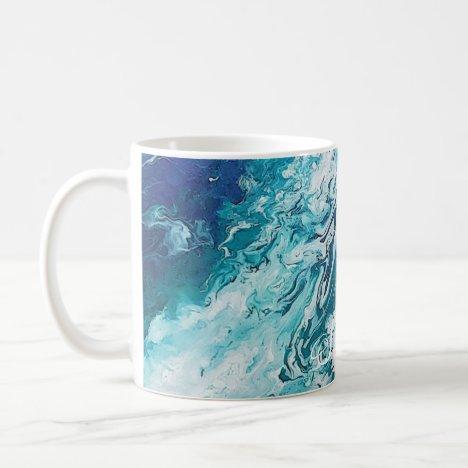 Blue marble Beach customizable Coffee Mug