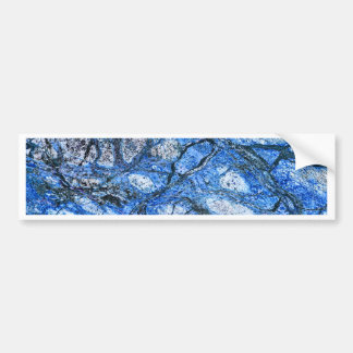 Blue marble bumper sticker