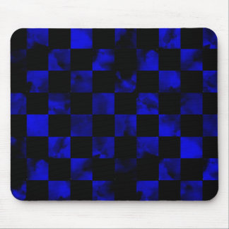 Blue marble Checkerboard Mouse Pad