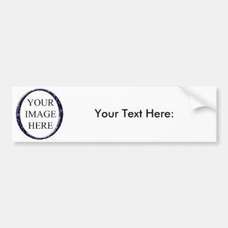 Blue marble circle frame template bumper sticker