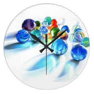 Blue Marble Clock