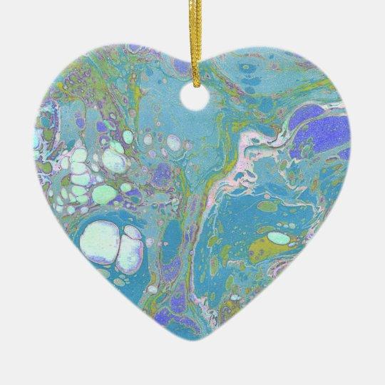 Blue Marble Design Ceramic Ornament