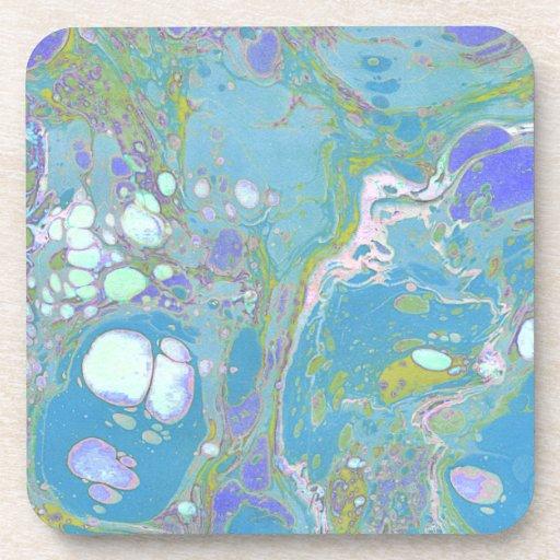 Blue Marble Design Drink Coasters Zazzle