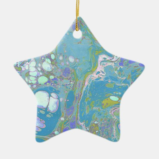 Blue Marble Design Ornaments