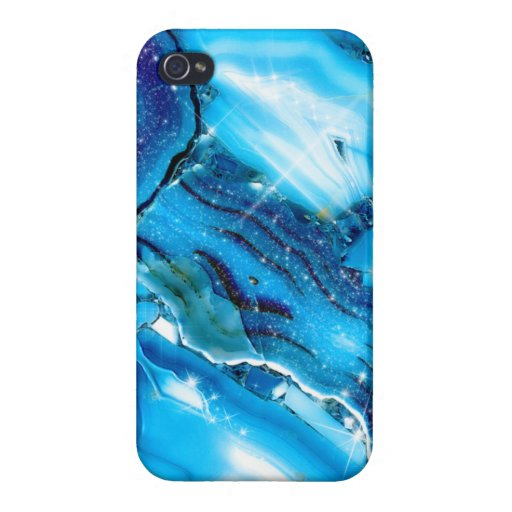 Blue Marble Glitz Case For iPhone 4