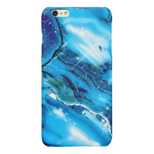 Blue Marble Glitz Glossy iPhone 6 Plus Case