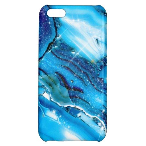 Blue Marble Glitz Case For iPhone 5C