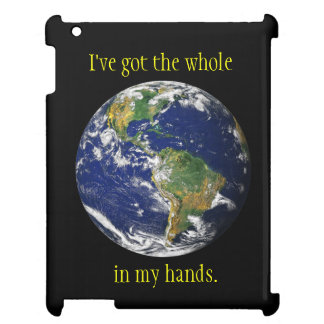 Blue Marble_I've got the whole world in my hands iPad Cases