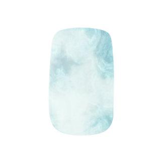blue marble minx nail art