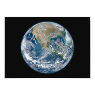 Blue Marble Planet Earth North America Mexico Card