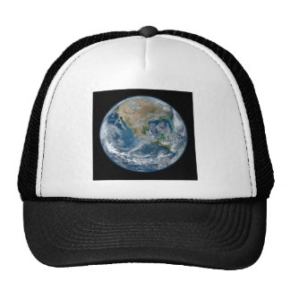 Blue Marble Planet Earth North America Mexico Mesh Hat